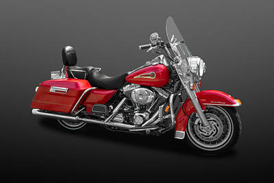 Photograph - 2003 Harley Davidson Road King Firefighter  -  Hdrk01 by Frank J Benz