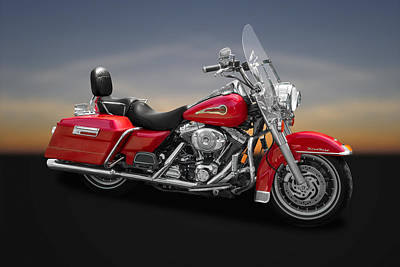 Photograph - 2003 Harley Davidson Road King Firefighter Se  -  Hdrk02 by Frank J Benz
