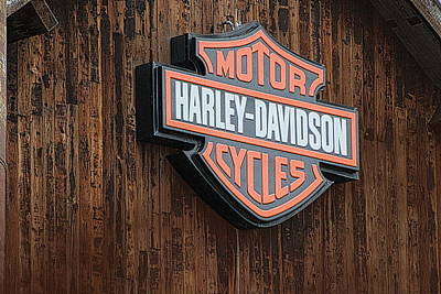 Harley Davidson Sign In West Jordan Utah Photograph Art Print