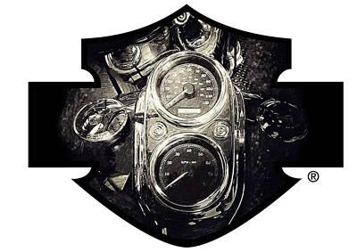 Harley Davidson Digital Art - Harley Davidson Speedometer by Yurdaer Bes