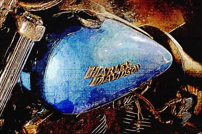 Harley Davidson Digital Art - Harley Davidson Street Bob by Yurdaer Bes