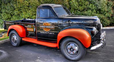 Old Trucks Photograph - Harley Davidson Truck by Todd Hostetter