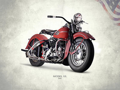 Photograph - Harley-davidson Ul 1941 by Mark Rogan