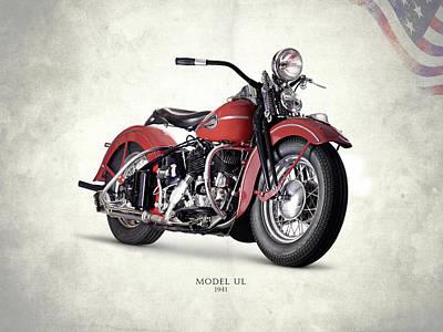 Harley Davidson Photograph - Harley-davidson Ul 1941 by Mark Rogan