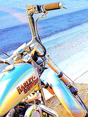 Wingsdomain Digital Art - Harley-davidson by Wingsdomain Art and Photography