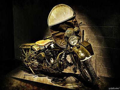 Photograph - Harley Davidson Wla 1942 - I by Weston Westmoreland