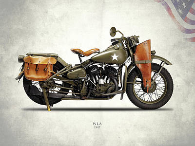 Photograph - Harley-davidson Wla 1942 by Mark Rogan