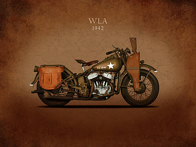 Photograph - Harley Davidson Wla by Mark Rogan