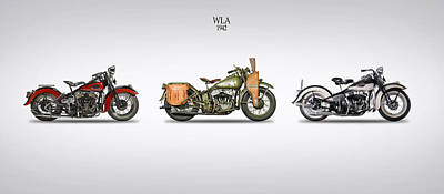 Harley Davidson Photograph - Harley Davidson Wla Range 1942 by Mark Rogan