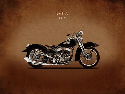 Harley Davidson Photograph - Harley-davidson Wla1942 by Mark Rogan