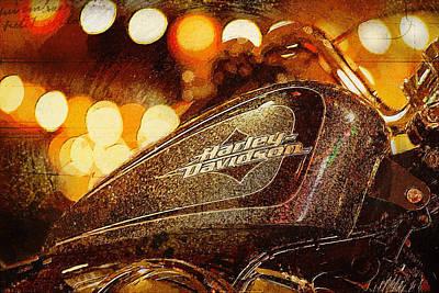 Harley Davidson Xl1200v Seventy Two Art Print by Yurdaer Bes