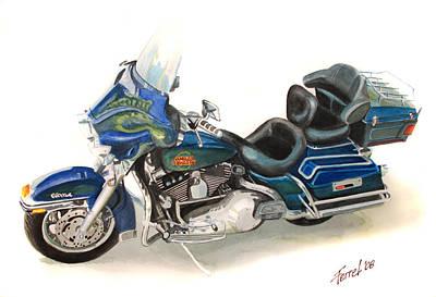 Harley Electraglyde Art Print by Ferrel Cordle