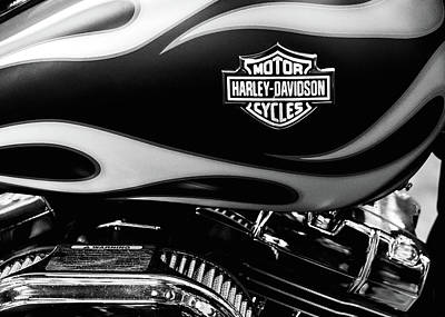 Photograph - Harley Flames 111116 by Rospotte Photography