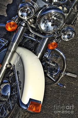 Corky Willis And Associates Atlanta Photograph - Harley Frontal In White by Corky Willis Atlanta Photography