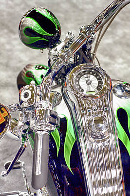 Photograph - Harley Green Black 033118 by Rospotte Photography