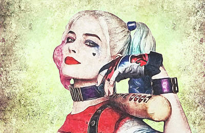 Harley Is A Crazy Woman Art Print