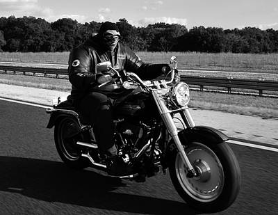 Photograph - Harley Man by David Lee Thompson