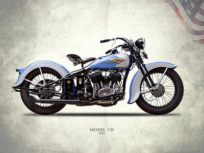 Harley Davidson Photograph - Harley Model Vd 1935 by Mark Rogan