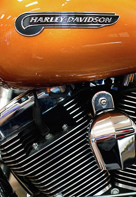 Photograph - Harley Orange 111516 by Rospotte Photography