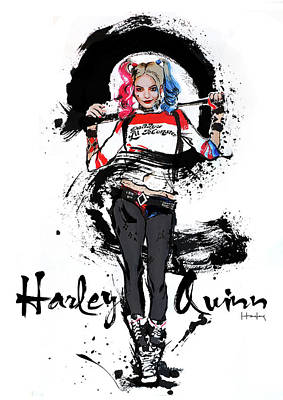 Harley Quinn Art Print by Haze Long