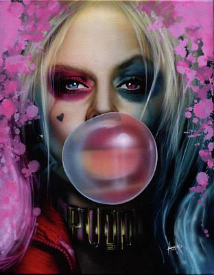 Quinn Painting - Harley Quinn by Luis Navarro