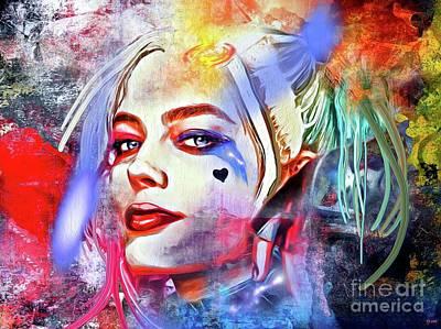 Quinn Painting - Harley Quinn Painted by Daniel Janda