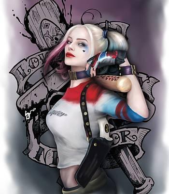 Suicide Wall Art - Digital Art - Harley Quinn by Silviq Yoncheva