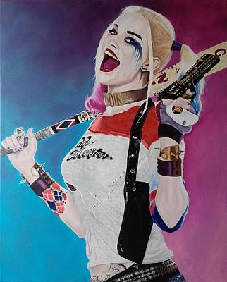 Margot Painting - Harley Quinn by Vincent Mckenna