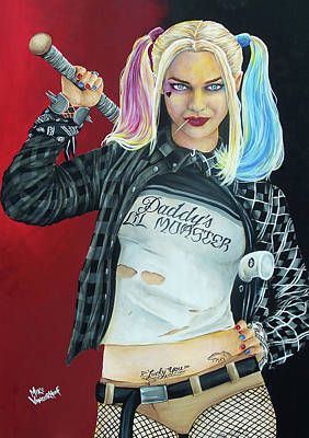 Painting - Harley Quinonez By Mike Vanderhoof by Michael Vanderhoof