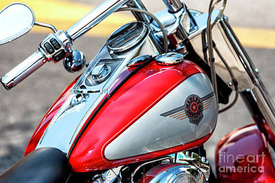 Photograph - Harley Red Fusion by John Rizzuto