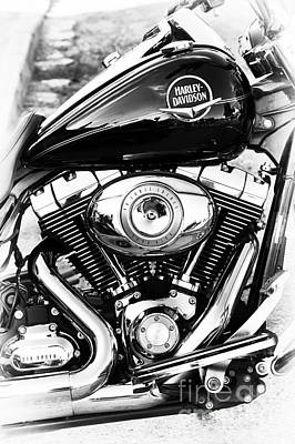 Photograph - Harley Road King Monochrome  by Tim Gainey