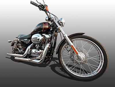 Photograph - Harley Sportster Xl1200 Custom by Gill Billington