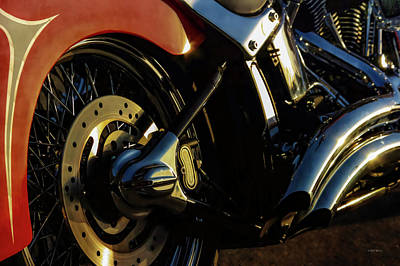 Photograph - Harley Sunset 5895 H_2 by Steven Ward
