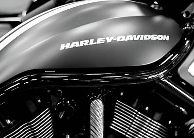 Photograph - Harley Tank Bw 11716 by Rospotte Photography