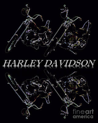 Photograph - Harleys  by Baggieoldboy
