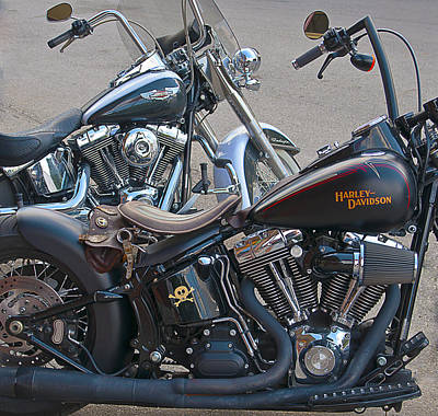 Photograph - Harleys by Brian Kinney
