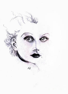 Platinum Drawing - Harlow by Maria Hakobyan