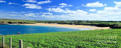 Landscapes Photograph - Harlyn Bay - Panoramic by Carl Whitfield