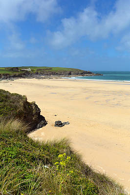 Trevone Photograph - Harlyn Bay Beach North Cornwall England Uk Near Padstow And Newquay by Michael Charles