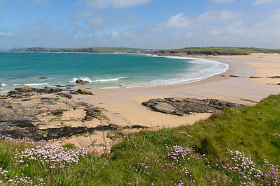 Trevone Photograph - Harlyn Bay North Cornwall England Uk Near Padstow And Newquay by Michael Charles