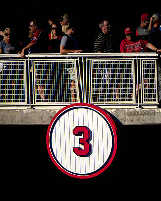 Photograph - Harmon Killebrew's Retired Number  by Tom Gort