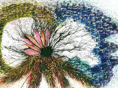 Mindfulness Painting - Harmonic Vibes Of The Rainbow Tribe #648 by Rainbow Artist Orlando L aka Kevin Orlando Lau