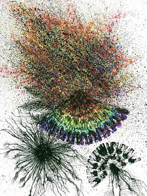 Harmonic Vibes Of The Rainbow Tribe #649 Art Print by Rainbow Artist Orlando L aka Kevin Orlando Lau