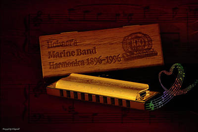 Photograph - Harmonica 01 by Kevin Chippindall