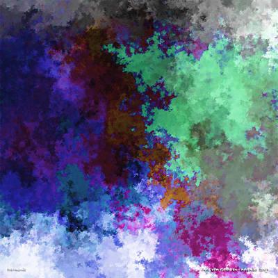 Abstract Flower Digital Art - Harmonie by Arie Van Garderen