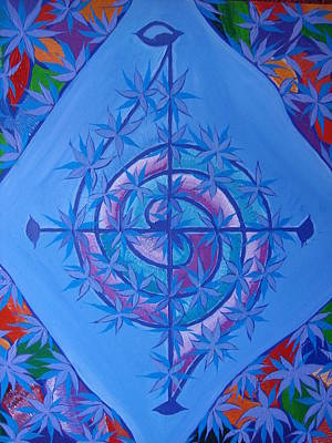 Painting - Harmonious Life Cross by Joanna Pilatowicz