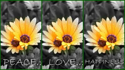 Art Print featuring the photograph Harmony Among The Flowers by Amanda Eberly-Kudamik