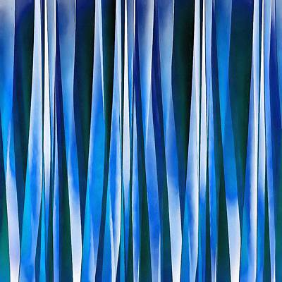 Digital Art - Harmony And Peace Blue Striped Abstract Pattern by Tracey Harrington-Simpson
