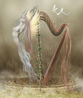 Digital Art - Harp Of Harmony by Ali Oppy