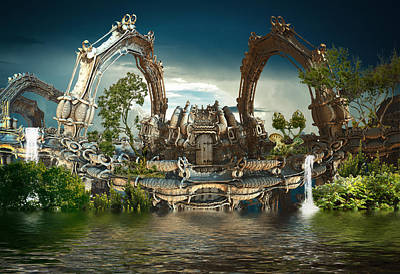 Digital Art - Harmony House by Hal Tenny
